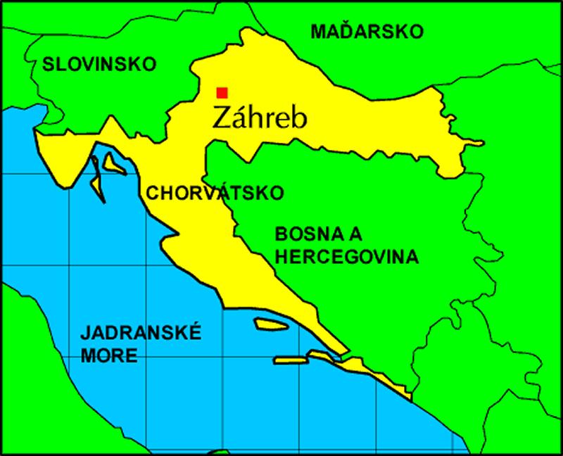 Chorvátsko mapa